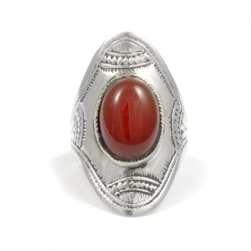 Bague Touareg pierre ovale