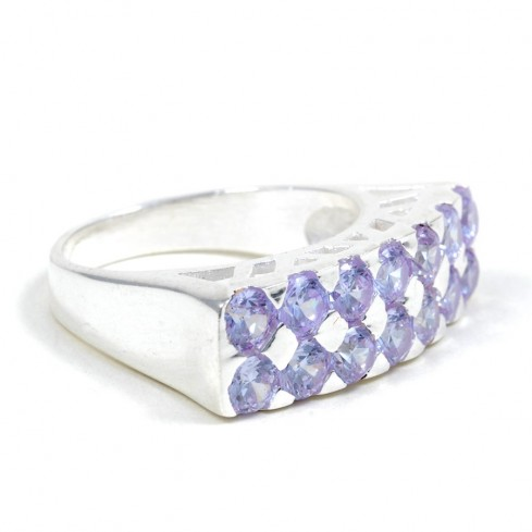 Bague argent Sunset -  Zirconium - Boutique Nirvana