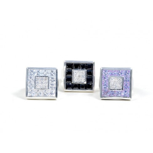 Bague argent Manhattan -  Zirconium - Boutique Nirvana