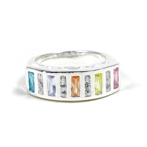 Bague argent Maui - ARGENT ZIRCONIUM - Boutique Nirvana