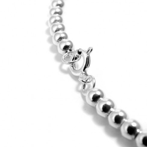 Collier perles d'argent simple - Silver Jewellery  - Boutique Nirvana