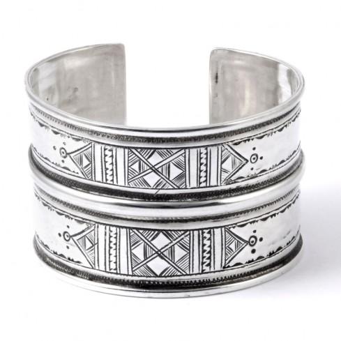 Large bracelet Touareg en argent - BRACELETS ARGENT - Boutique Nirvana