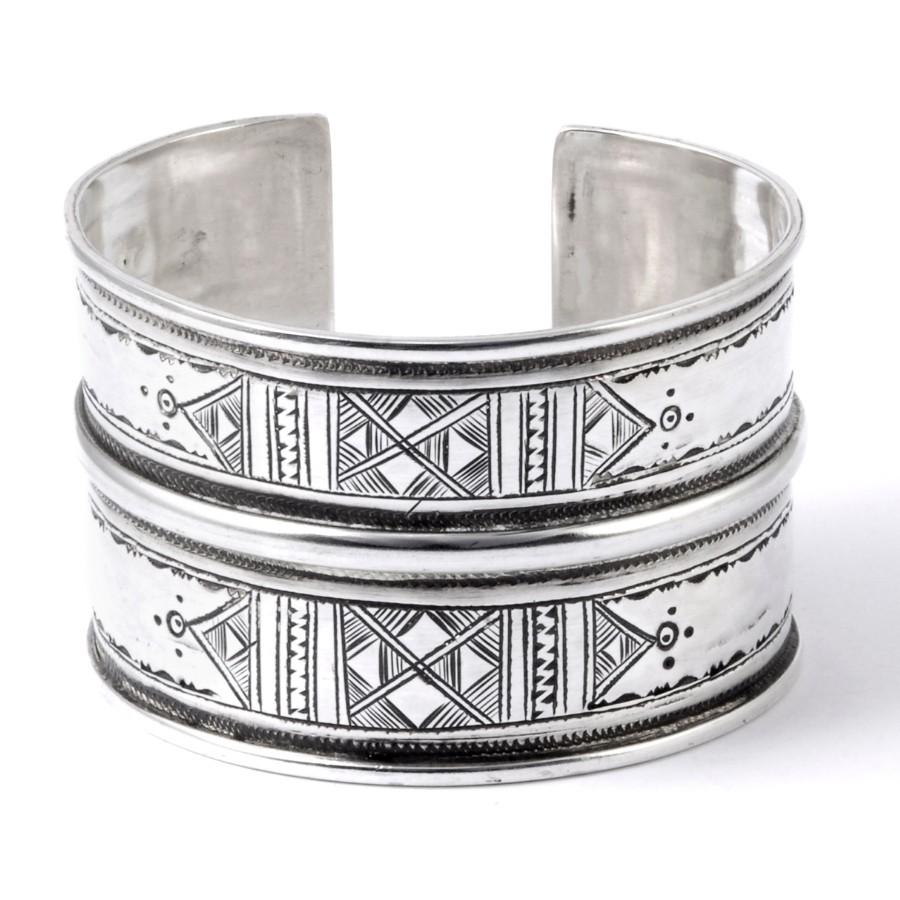 Large bracelet Touareg en argent - Silver Bracelets - Boutique Nirvana