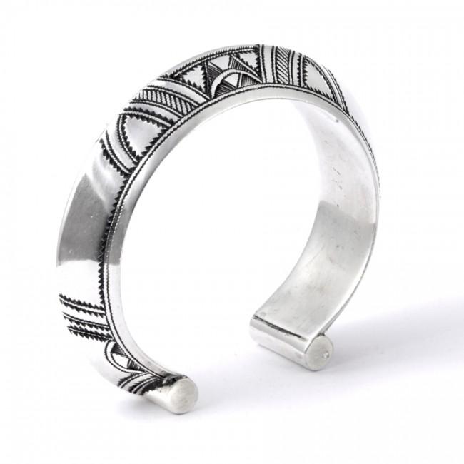 Bracelet bombéTouareg en argent - Silver Bracelets - Boutique Nirvana