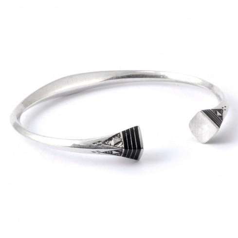 Bracelet en argent et ébène - BIJOUX ARGENT - Boutique Nirvana