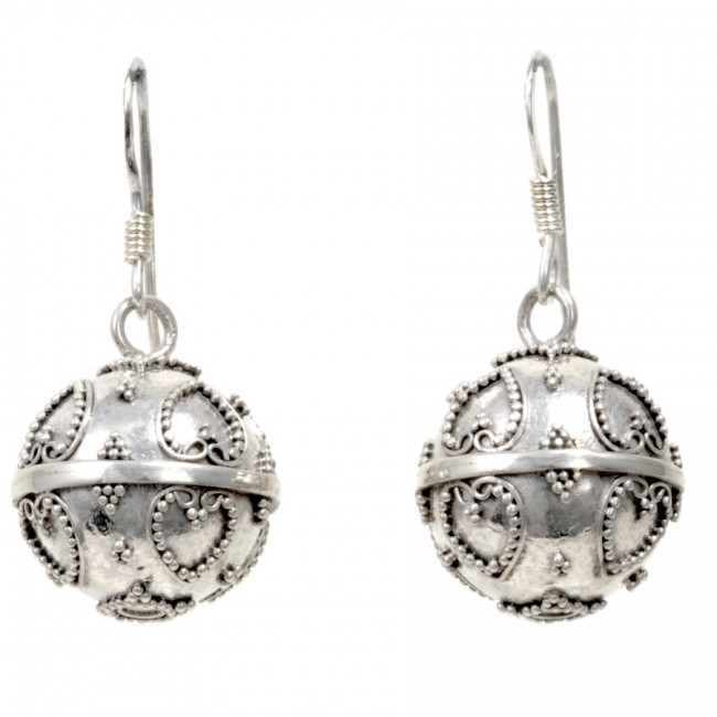 Boucles boules argent Adila - SILVER LOOPS - Boutique Nirvana