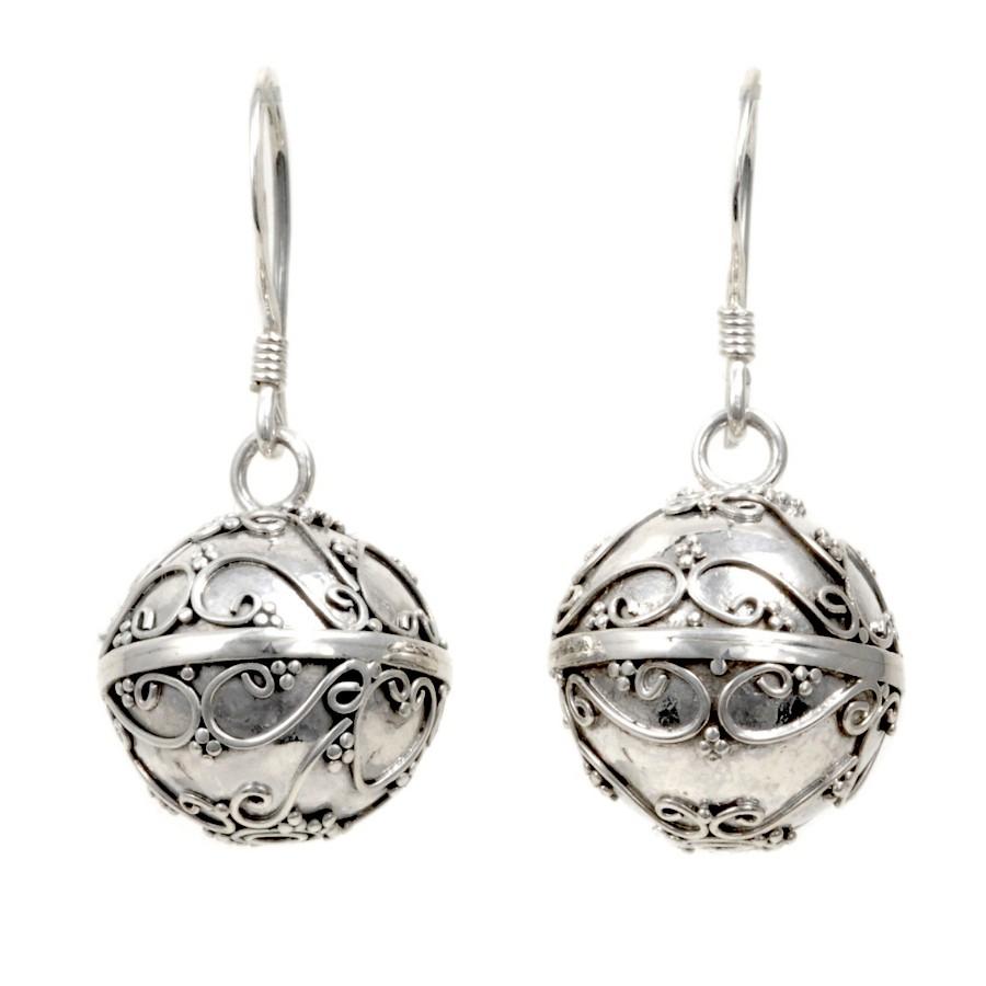 Boucles boules argent Malaika - SILVER EARRINGS - Boutique Nirvana