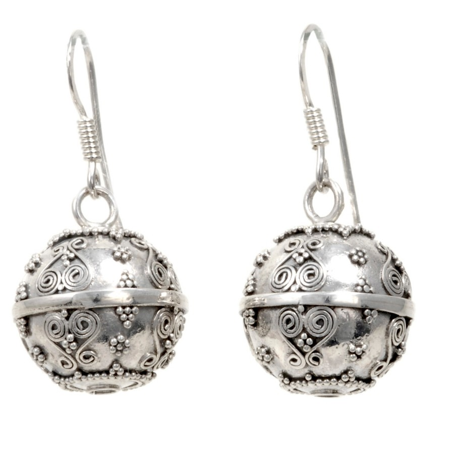 Boucles boules argent Maliha - SILVER LOOPS - Boutique Nirvana