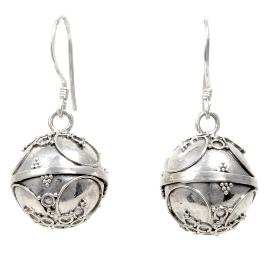Boucles boules argent Ina - SILVER LOOPS - Boutique Nirvana