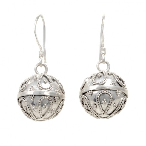 Boucles boules argent Aloha - SILVER LOOPS - Boutique Nirvana