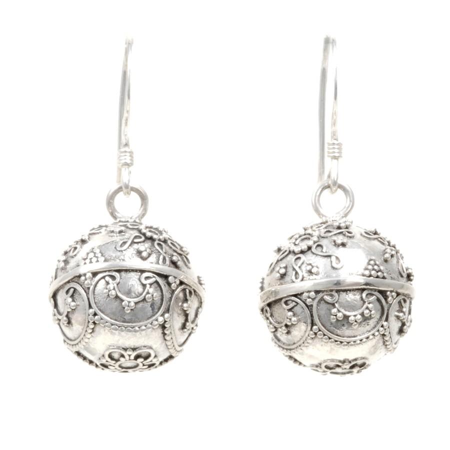 Boucles boules argent Olina - BOUCLES ARGENT - Boutique Nirvana