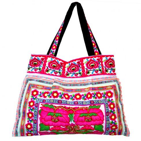 Grand sac ethnique India blanc - PROMOTIONS -