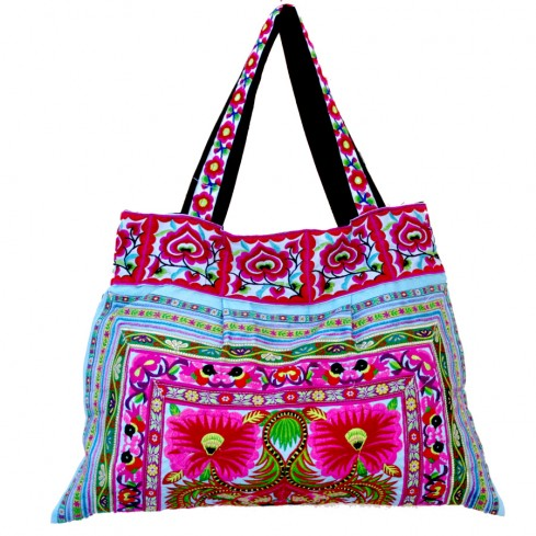 Grand sac tissu India bleu - PROMOTIONS -