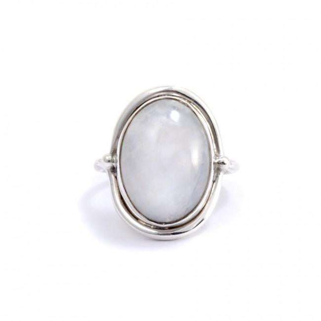 Bague Sikkim Pierre de lune - Silver Rings -