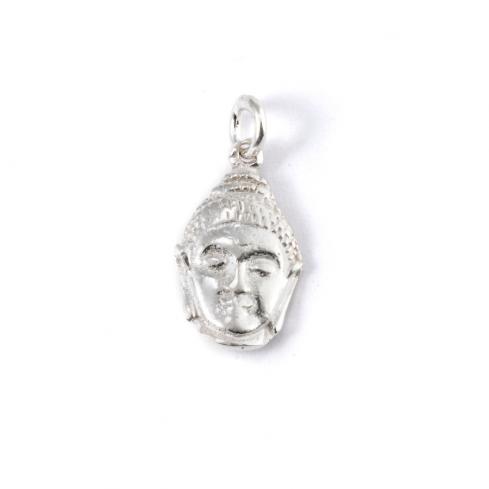 Pendentif tête de Bouddha - SILVER - Boutique Nirvana