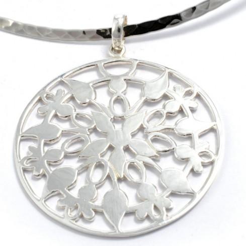 Indonesian Circular Silver Pendant - Home - Boutique Nirvana
