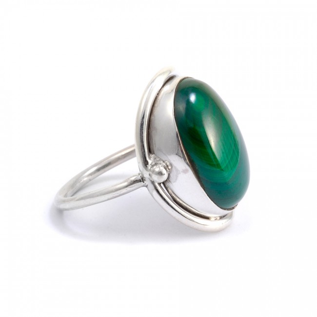 Bague Sikkim malachite - Pierres fines -