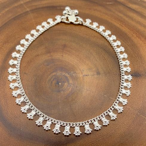 Chaine de cheville indienne - Silver Ankle Chain - Boutique Nirvana