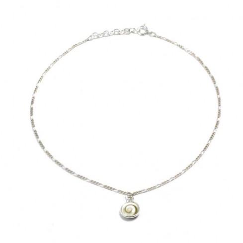 Chaine de pied oeil de Ste Lucie - Silver Ankle Chain - Boutique Nirvana
