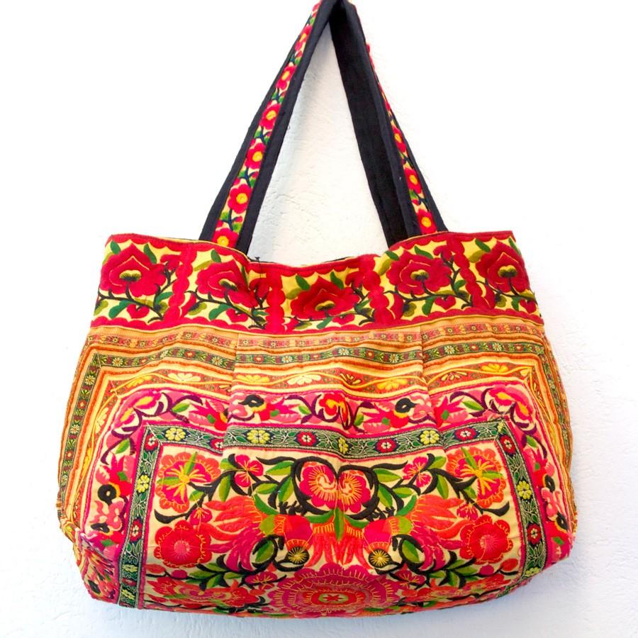 Sac ethnique safran Hmong - BAGS - Boutique Nirvana