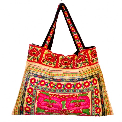 Grand sac ethnique safran India - BAGS - Boutique Nirvana