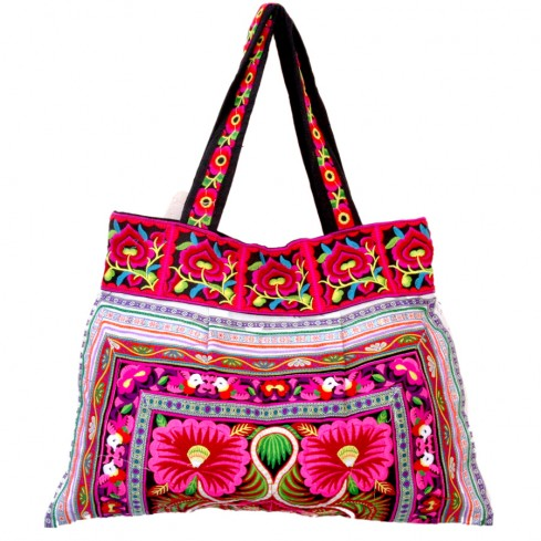 Grand sac ethnique noir India - BAGS - Boutique Nirvana