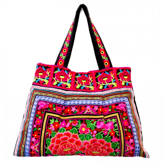 Grand sac ethnique noir India - BAGS - Boutique Nirvana