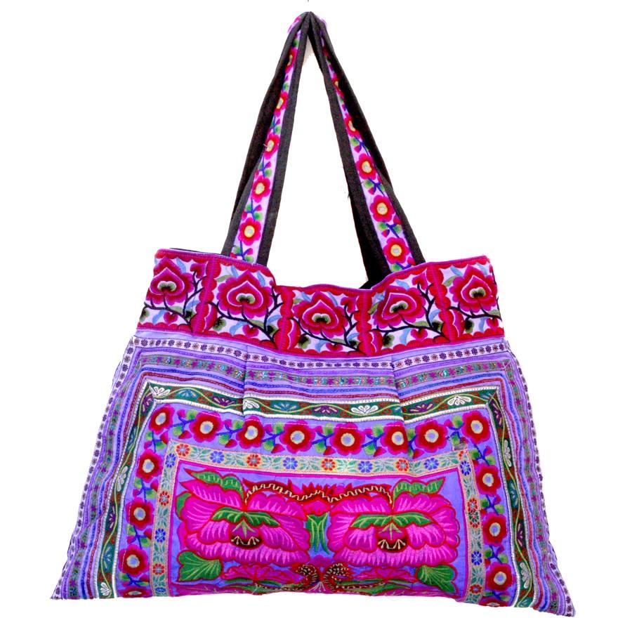 Sac ethnique mauve India - BAGS - Boutique Nirvana