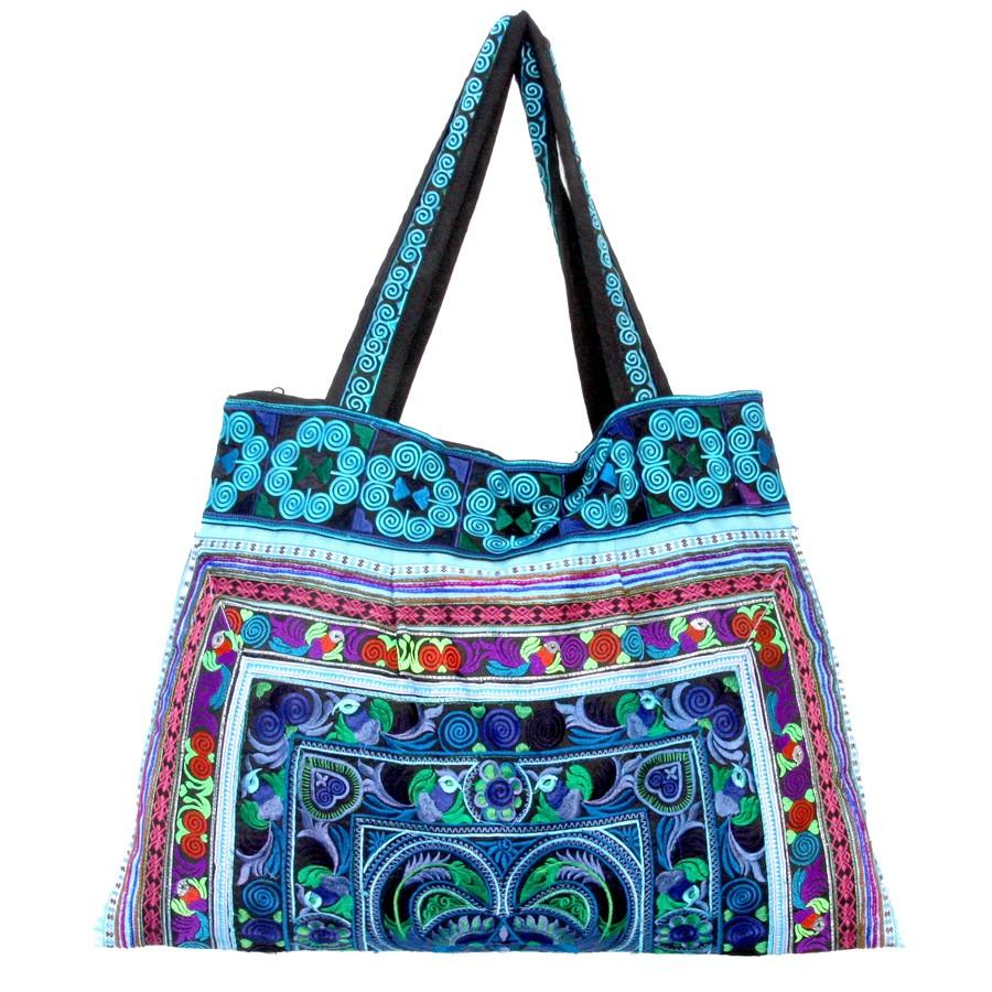 Grand sac ethnique broderies Kiski - BAGS - Boutique Nirvana