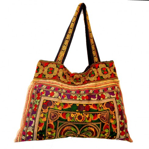 Grand sac ethnique broderies Kiski - BAGS - Boutique Nirvana