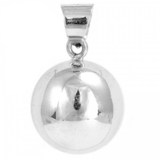 Large Smooth Silver Bola - HARMONY BALL - Boutique Nirvana