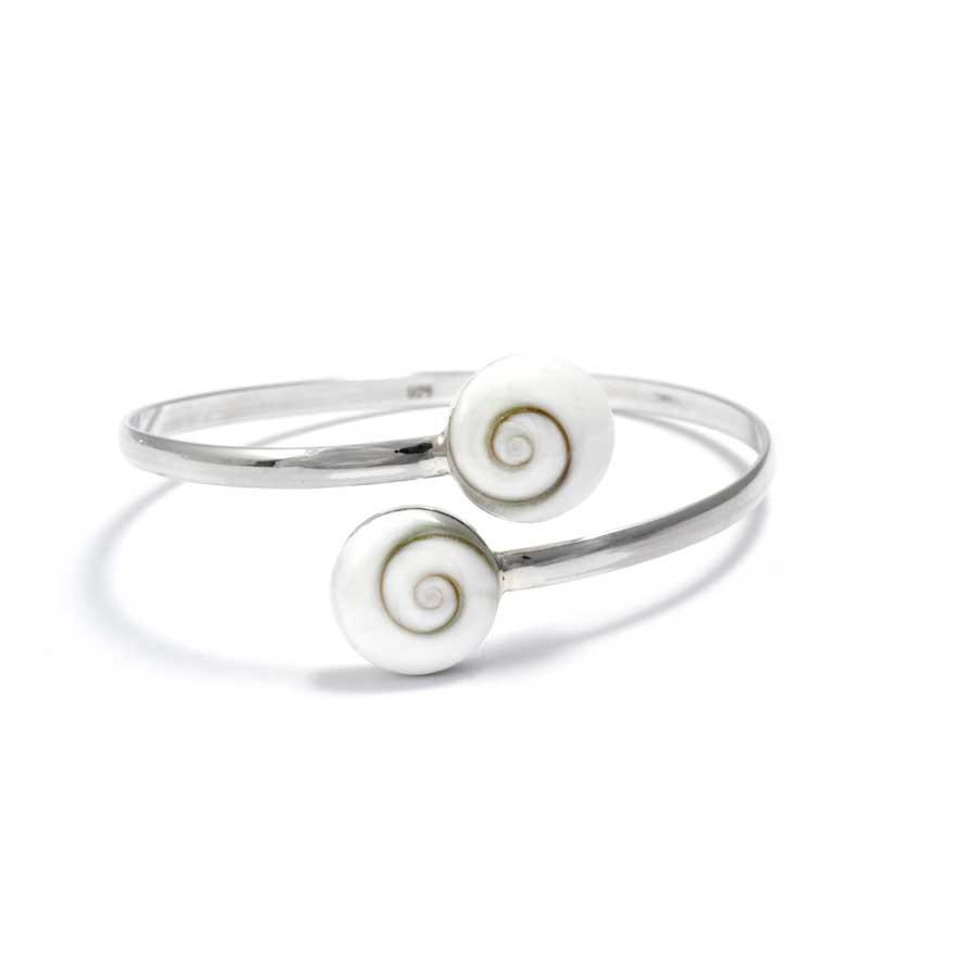 Bracelet argent rigide oeil de Sainte Lucie réglable - SAINTE LUCIE - Boutique Nirvana