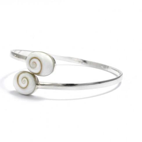 Bracelet argent oeil de Shiva croisé - Accueil - Boutique Nirvana