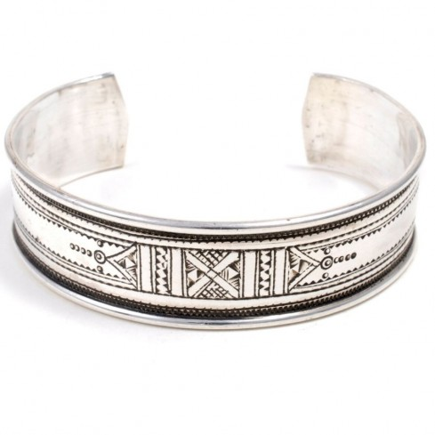 Bracelet argent manchette Touareg - TOUAREG+ - Boutique Nirvana