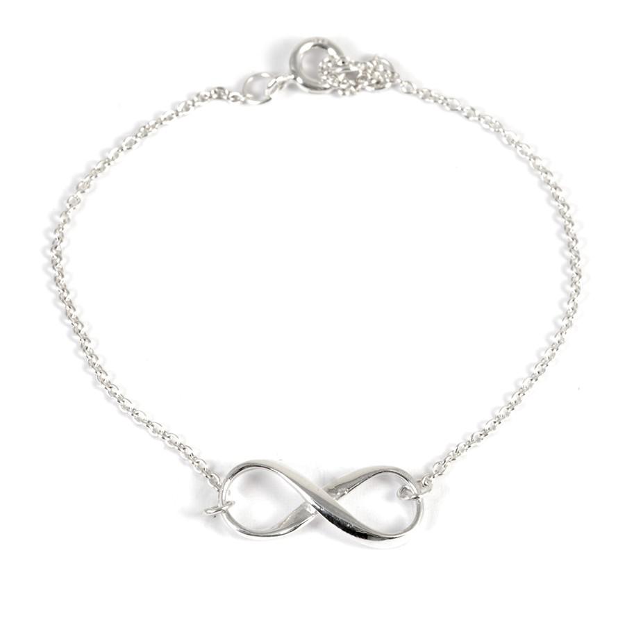 Bracelet chaine argent infini - ARGENT+ - Boutique Nirvana