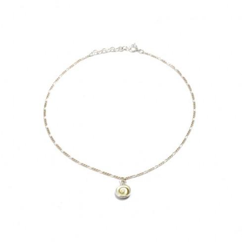 Bracelet argent fine chaine et oeil Ste Lucie - BRACELETS ARGENT - Boutique Nirvana