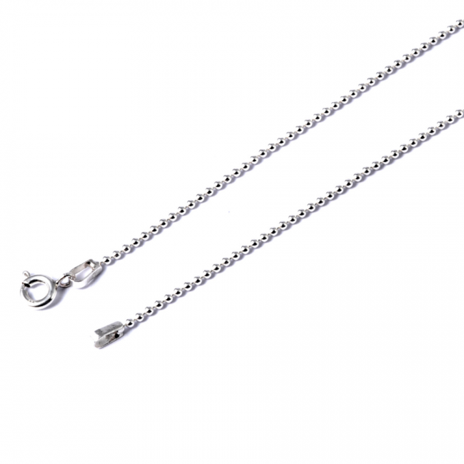 Chaine argent billes Tida - Silver Chains and Cables - Boutique Nirvana