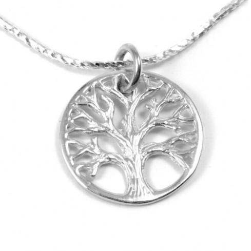 Chaine pendentif arbre de vie - SILVER PENDANT - Boutique Nirvana