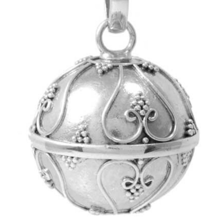 Indian Silver Bola Pendant - HARMONY BALL - Boutique Nirvana
