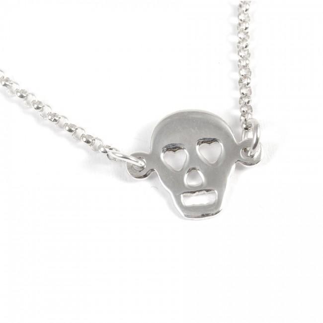 Bracelet chaine argent tête de mort - Silver Jewellery  - Boutique Nirvana