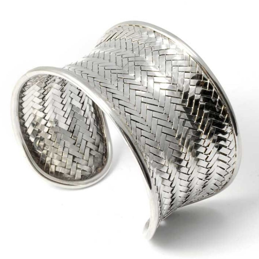 bracelet argent manchette