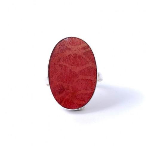 Bague argent grande pierre ovale Timea - BAGUES ARGENT - Boutique Nirvana