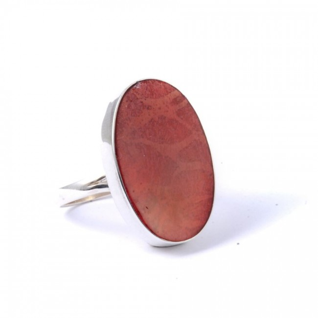 Bague argent grande pierre ovale Timea - Silver Rings - Boutique Nirvana
