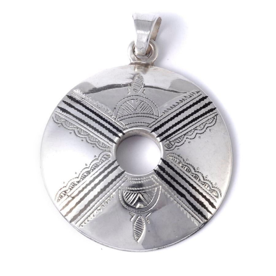 Pendentif Touareg Donut en argent - Silver Jewellery  - Boutique Nirvana