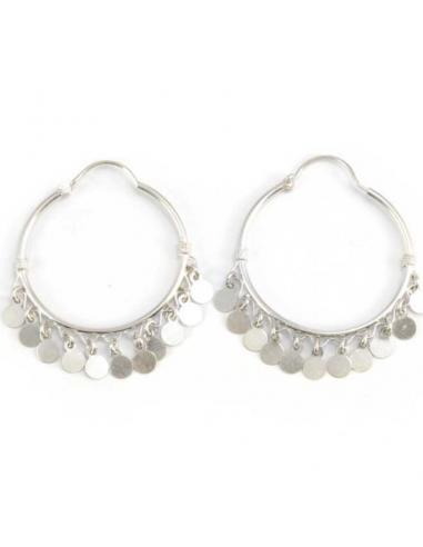Large Bohemian Silver Hoops - SILVER EARRINGS - Boutique Nirvana