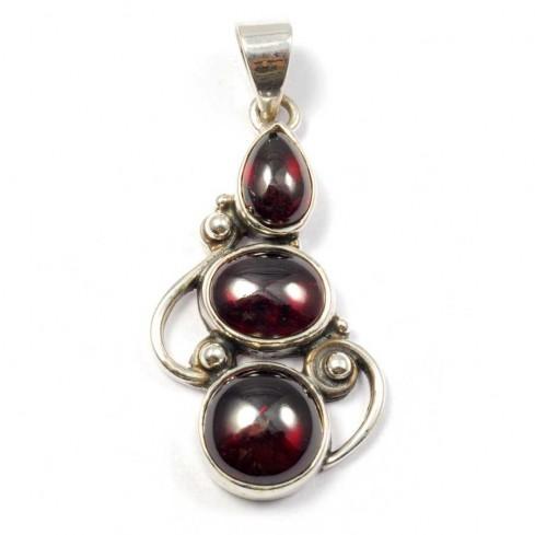 Silver Three-Stone Pendant - Silver Jewellery  - Boutique Nirvana