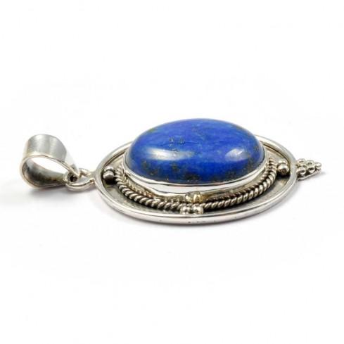 Silver Cabochon Stone Pendant - PIERRES FINES - Boutique Nirvana