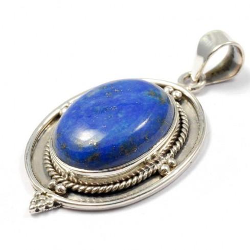 Silver Cabochon Stone Pendant - Home - Boutique Nirvana