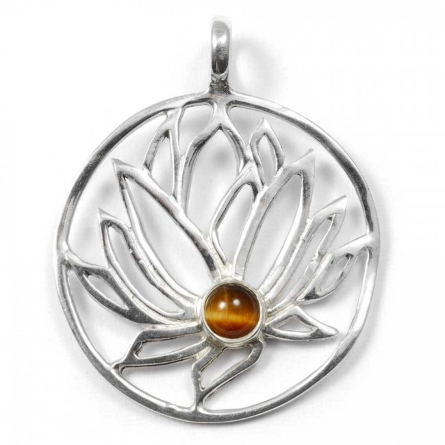 Handmade Silver Lotus Pendant - Silver Jewellery  - Boutique Nirvana