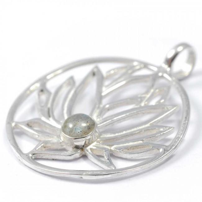 Handmade Silver Lotus Pendant - Silver Jewellery  - Boutique Nirvana